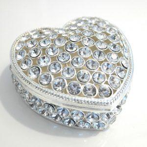 Large Crystal Love Heart Keepsake Box
