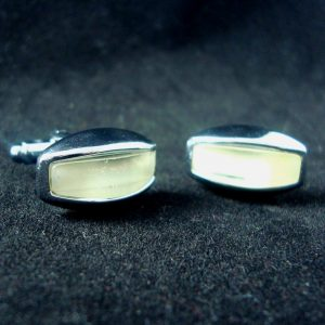 Ben Oblong Pearl Cufflinks