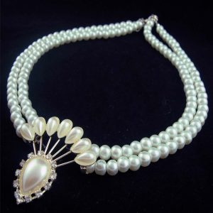 Mirage Pearl Diamond Shape necklace
