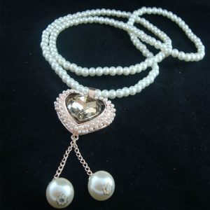 My Gem Heart Pearl Necklace