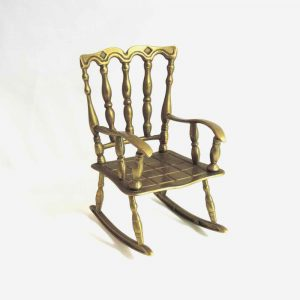 Small Brass Novelty Rocking Chair