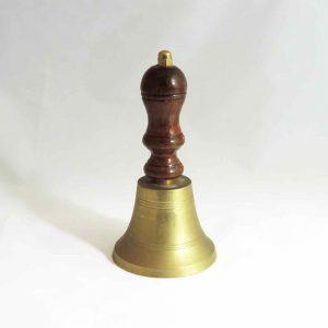 School Vintage Wood Brass Bell