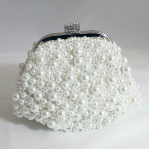 Ivory Pearl Beaded Pouch