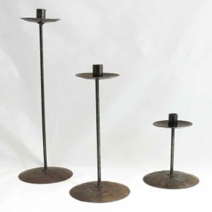 Rustic Candle Holder Set
