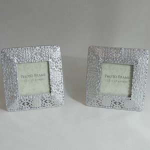 Small Silver Square Frames Set