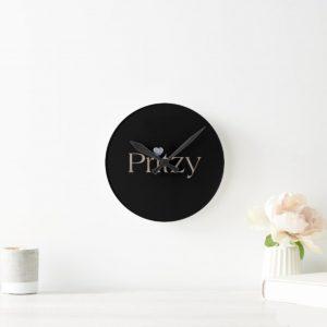Black Signature Wall Clock
