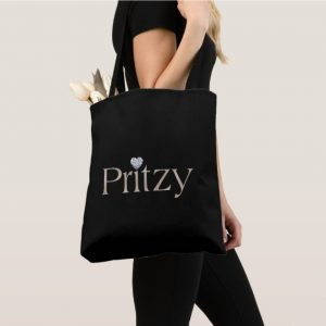 Black Signature Tote Bag