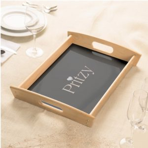 Wood Signature Home Tray