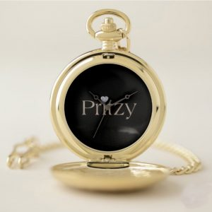 Black Signature Pocket Watch