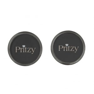 Gunmetal Grey Signature Round Cufflinks