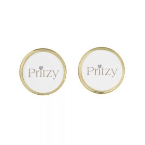 Gold Signature Round Cufflinks